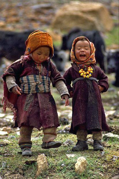 Himalayalarda çocuklar