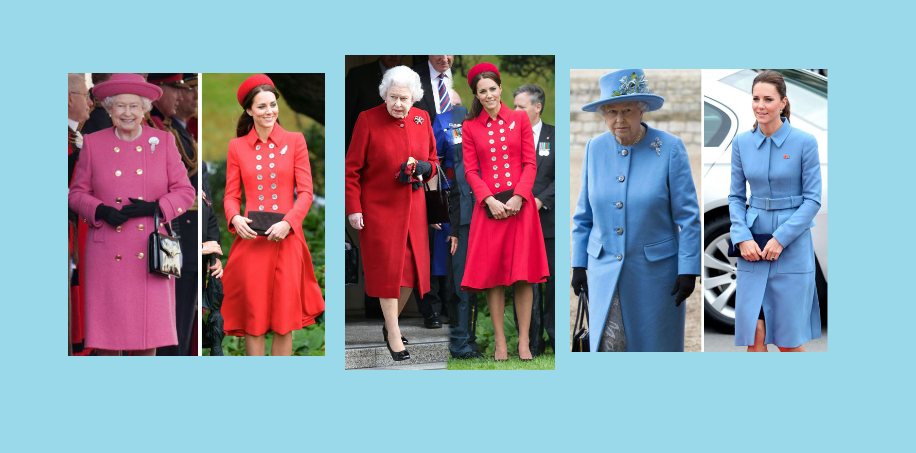 kraliçe elizabeth ve kate middleton