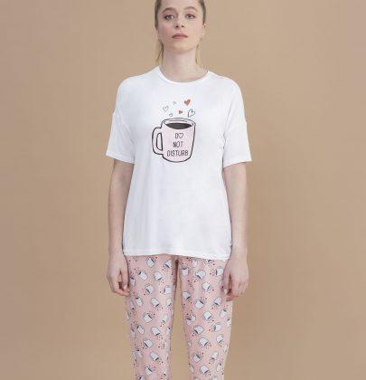 Tchibo'nun kahvesiz yapamayanlar için tasarladığı Pembe Coffee Pijama Takımı